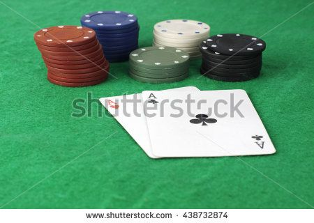 Aces and poker chips