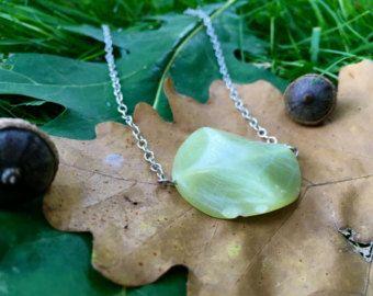 Colgante collar pájaro en una rama nueva Jade serpentina