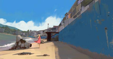 「31/365 At the beach」/「snatti」のイラスト [pixiv]