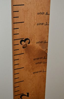 Height Measuring Board For Living Room Next To Book