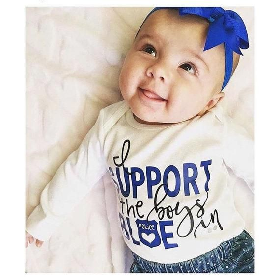 I support the boys in Blue- Love Police, Police Family, Police Life, Police Wife, My Daddy Is My Hero