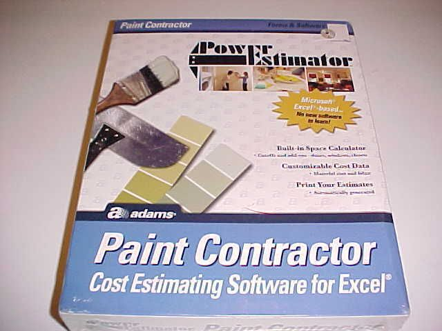 Adams Power Estimator Paint Contractor Cost Estimator Paint Software Excel New #Adams
