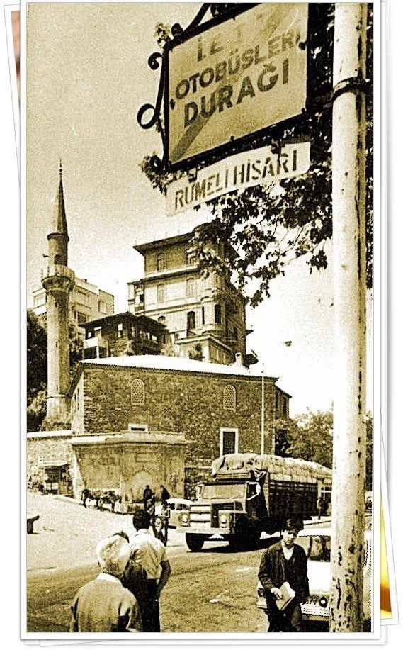 Rumeli Hisar, Sariyer, Istanbul. Mosque and Perili (haunted) Mansion.