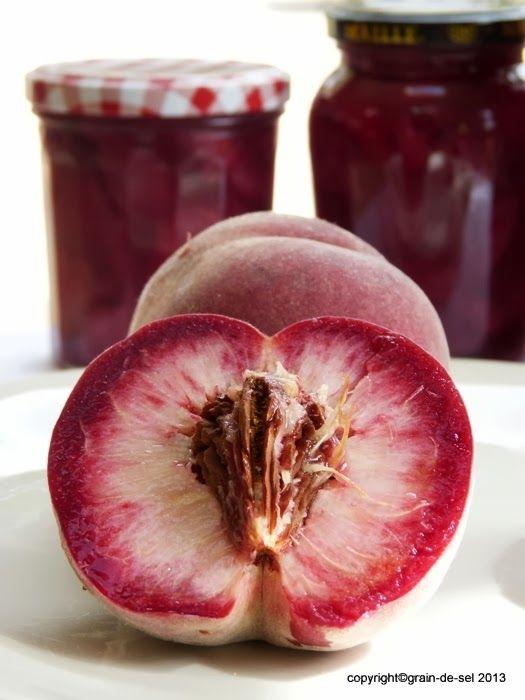 grain de sel - salzkorn: Wenn die Tage kürzer werden: eingemachter Pfirsich