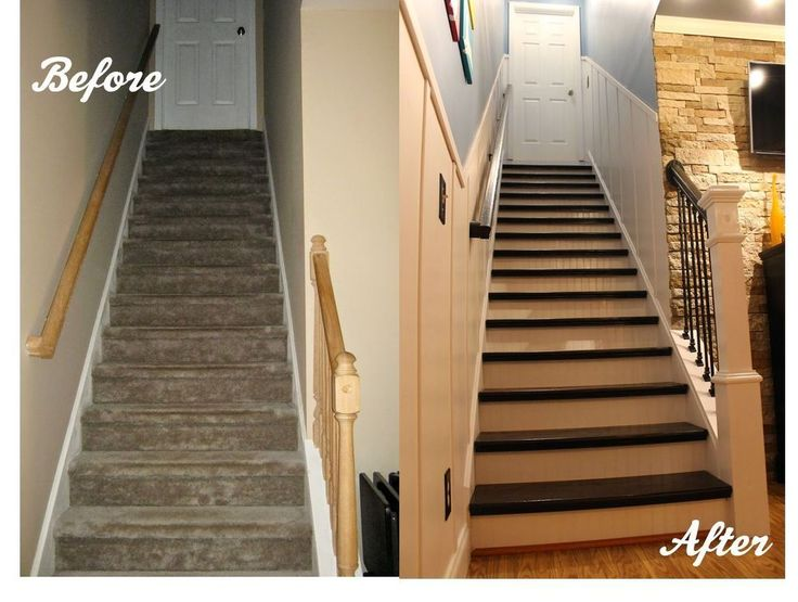 Board And Batten Remodeled Staircase