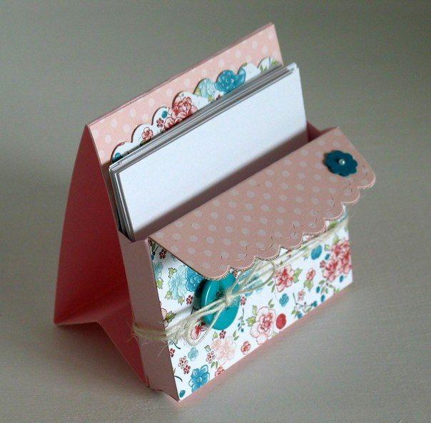 Органайзер для визиток и листков для записей / Рукоделие