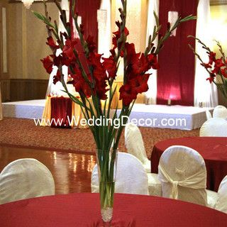 Wedding Centerpieces - red gladiolus | Flickr - Photo Sharing!