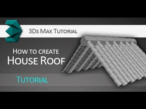 3ds max tutorial quick creation of house roof youtube 3d 2d