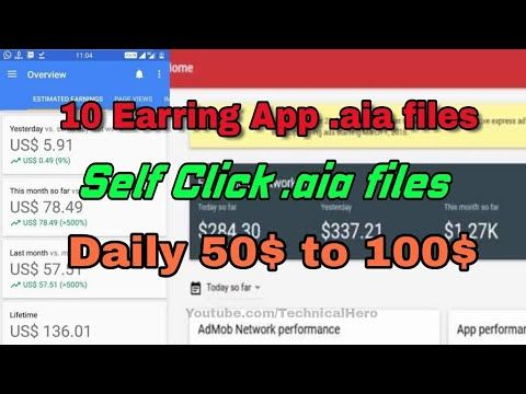 10 High Quality earning apps aia files 2018 || Daily 50$ to 100