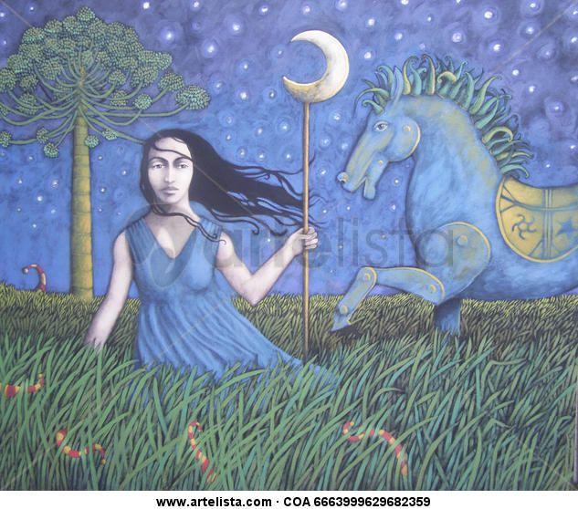 Alejandro Arrepol-Princesa de la Noche he elegido esta obra porque me gusto al verla y representa esa belleza en el con lineas desordenadas.