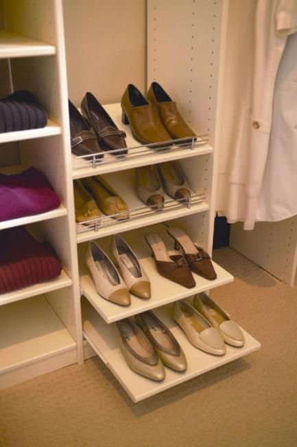Smart storage ideas help turn small spaces into beautiful closets and improve the home organization