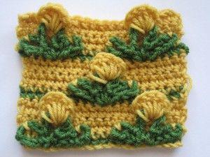 Crochet Pop Out 3D Flower Stitch Free Pattern