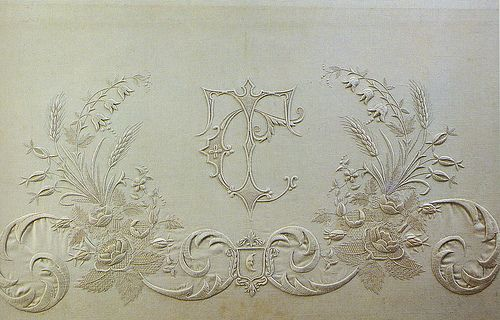 Embroidered monogram by Townmouse, via Flickr