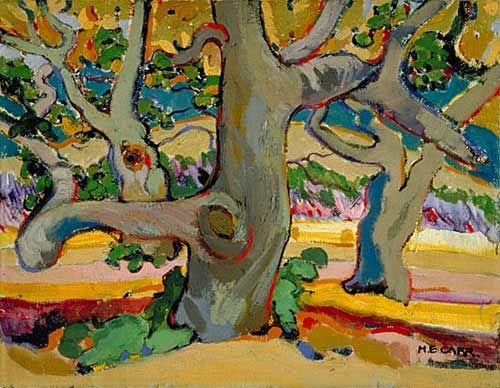 Trees in France, v.1911, huile sur toile - Emily Carr