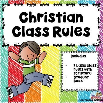Do you teach in a Christian School or a Catholic School and need some class rules with scripture? Is so this FREEBIE might be a good fit for your class!This file includes 7 basic classroom rules with scriptures in a cute rainbow scribble theme.Rules are:Love God and others!