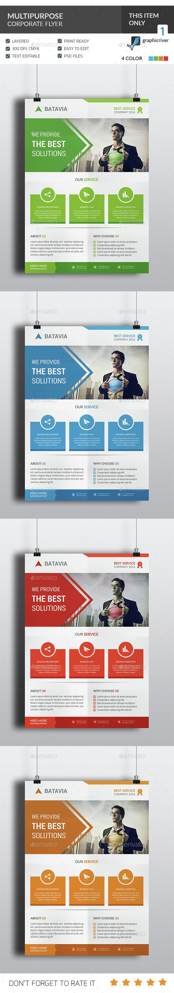 17 best ideas about flyer design graphic design multipurpose corporate flyer