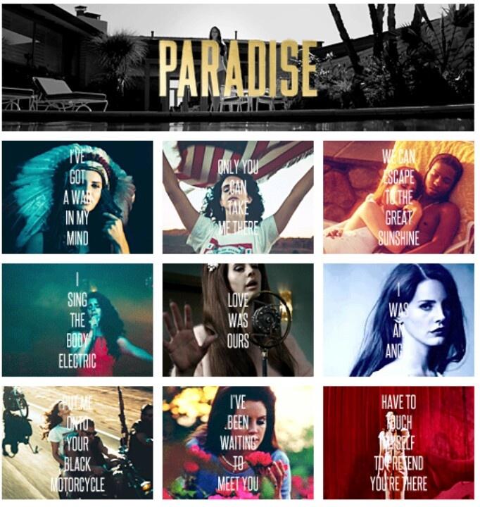 Lana Del Rey #lyrics from the Paradise Edition  #LDR