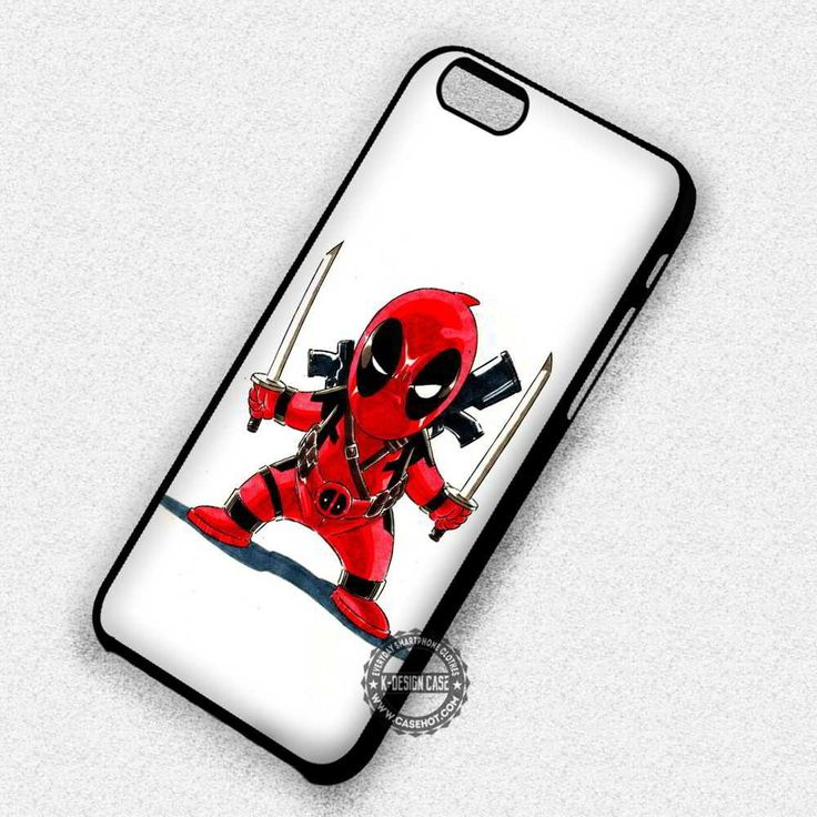 Chibi Characther Comic Deadpool Enemy - iPhone 7 6 5 SE Cases & Covers