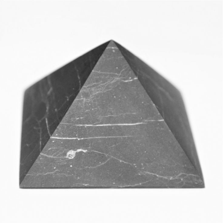 Shungite 30 mm Non-polished shungite pyramid with fast shipping Price: $3.49
