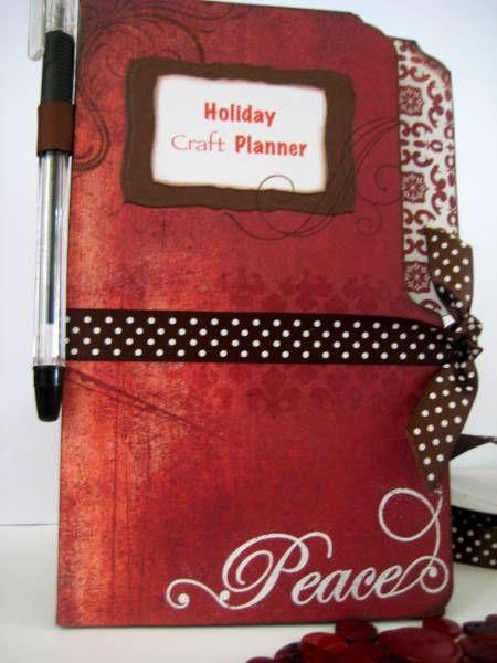 ** Christmas Mini Album Made Of File Folders @splitcoaststampers