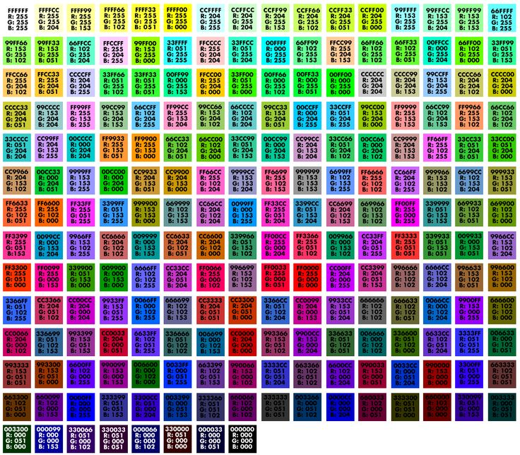 Best Color Codes Images On   Color Codes Color