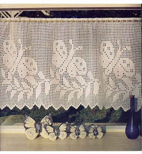 Crochet diagram patterns, curtain