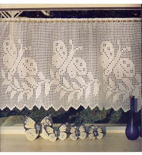 Crochet diagram patterns, curtain