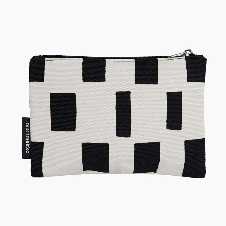 Marimekko KAIKA ISO NOPPA Pouch | Black and White Accessory Pouch for Your Phone | Finnish Design
