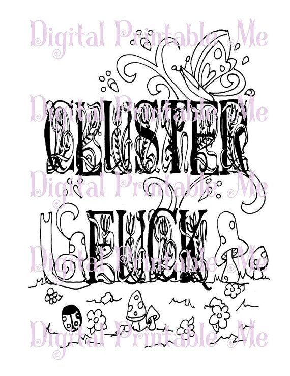 71 best swear word coloring pages images on Pinterest Coloring