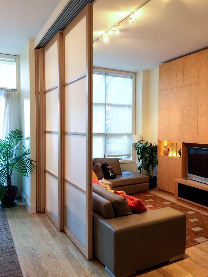 Room Dividing Solutions Raydoor In 2020 Living Room Partition Living Room Sliding Doors Room Partition Designs