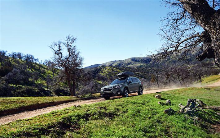 Hämta bilder Subaru Outback, offroad-bilar 2018, delningsfilter, Subaru