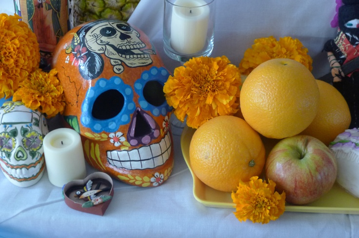 A beautiful Day of the Dead altar