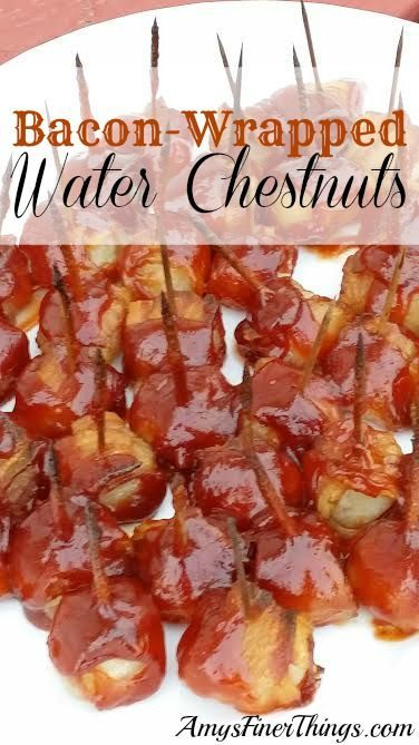Bacon-Wrapped Water Chestnuts are a must-have at your holiday party. Salty/Sweet Chewy/Crunchy all in one delicious bite! (scheduled via http://www.tailwindapp.com?utm_source=pinterest&utm_medium=twpin&utm_content=post235475&utm_campaign=scheduler_attribution)
