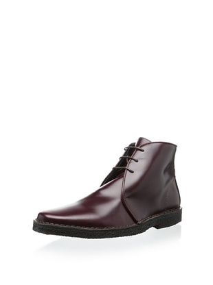 80% OFF The Generic Man Men's Riderman Leather Lace-Up (Burgundy)