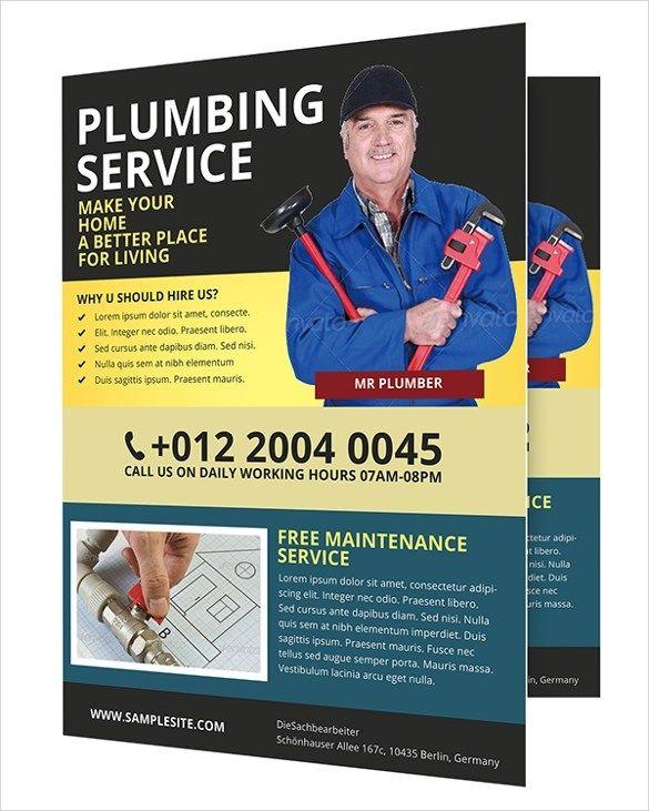 Free Printable Plumbing Flyer Templates 26 Beautiful Handyman
