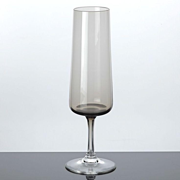 1 Sektglas Rauchglas Driburg Sektkelch Kristallglas Vintage braun 50er 60er