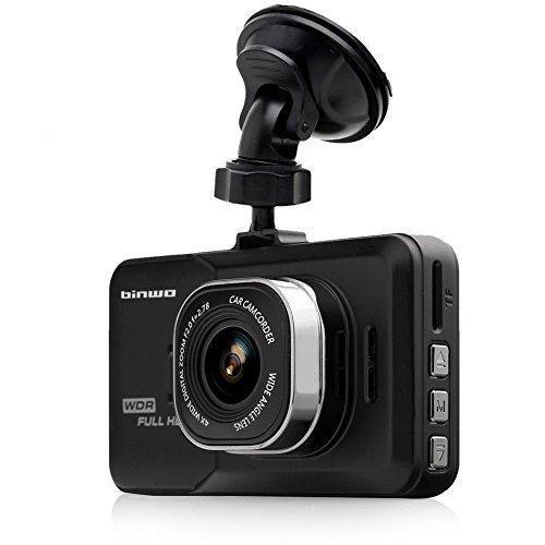 Binwo Dashboard Camera Recorder FHD 1080P Car Dash Cam Camcorder 170 Wide Angle Black Box Video Recorder Car DVR Camera with G-Sensor Loop Recording Motion Detection