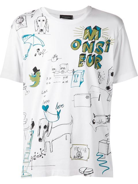 Shop Viktor & Rolf 'Doodle' print T-shirt in ODD. from the world's best independent boutiques at farfetch.com. Over 1000 designers from 300 boutiques in one website.