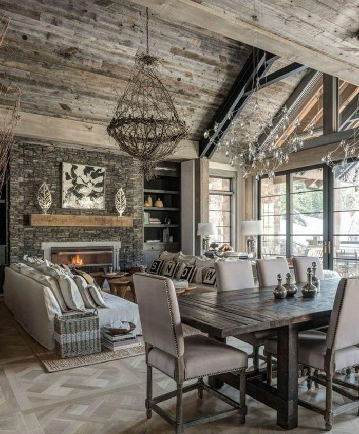 Les 25 meilleures id es concernant chemin es rustiques sur for Decoration maison rustique