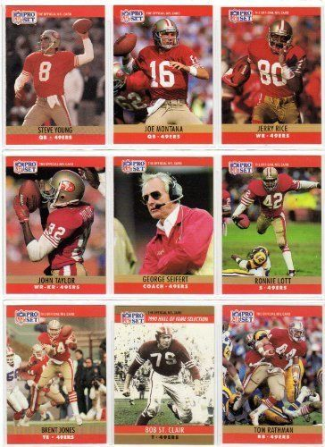 San Francisco 49ers 1990 Pro Set Football Team Set (40 Cards) (Includes Series 1 2 plus Final Update) (NFC West Champions) (40 Cards)…
