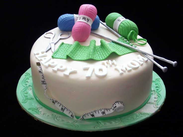 Knitting Birthday Cake Ideas : Best images about sewing knitting cakes on pinterest