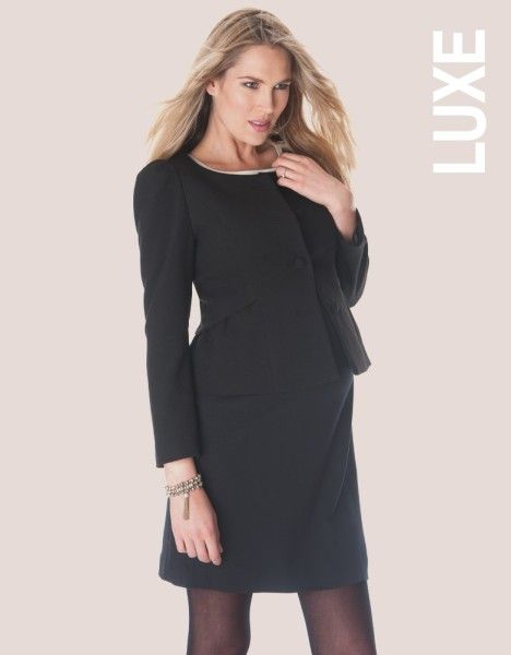 Seraphine Black Peplum Maternity Blazer, worn by Crown Princess Victoria of Sweden