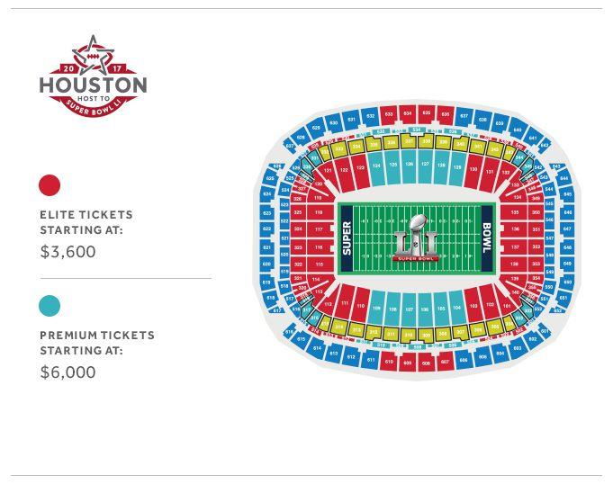 Super Bowl LI Stadium Map