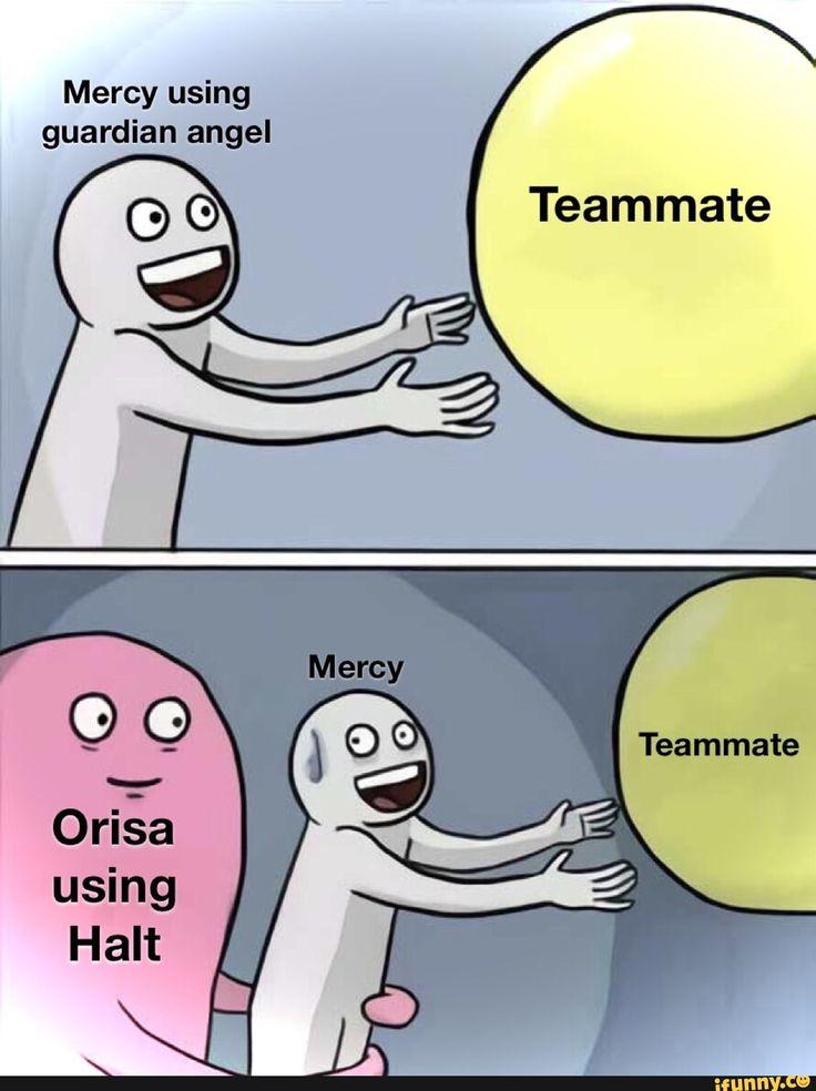 Mercy using guardian angel Teammate iFunny