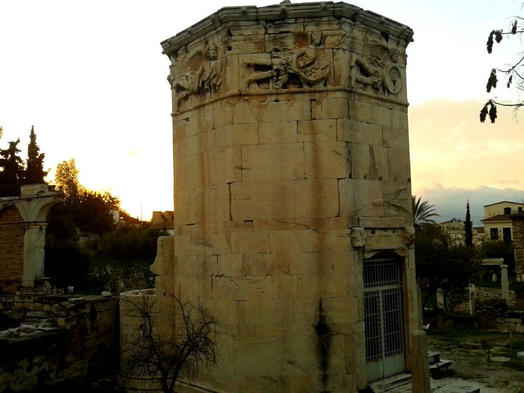 The Tower of the Winds in the Roman Agora, Athens.