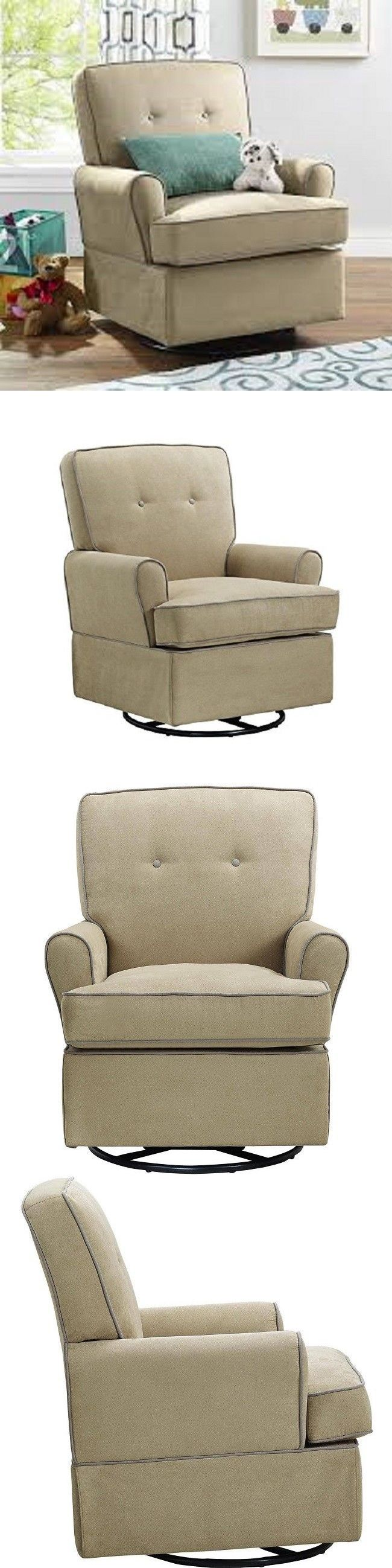 Rockers Gliders 66690: Swivel Glider Chair Baby Nursery Beige Padded Seat Cushion Baby Relax Tinsley -> BUY IT NOW ONLY: $279.99 on eBay!