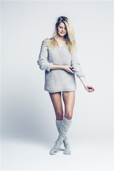 Tema 42: Modell 13 Knestrømper #strikk #knit