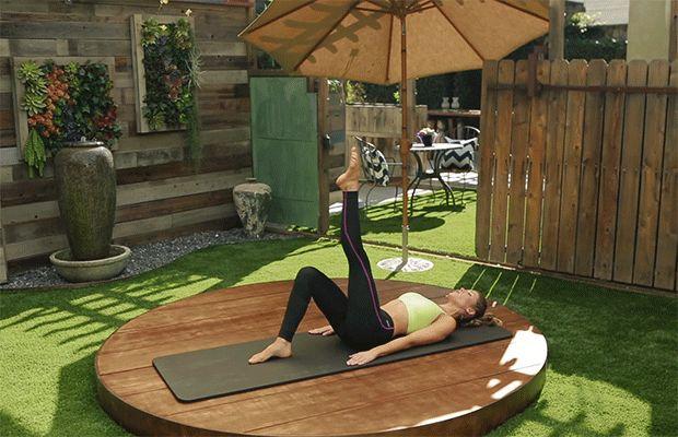 DailyBurn Pilates Single Leg Circle