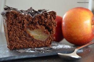 Cake aux pommes et chocolat