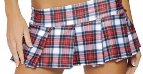 Had classmates that would wear it that short if they could!!  Except our colors were green and gold wool plaid.